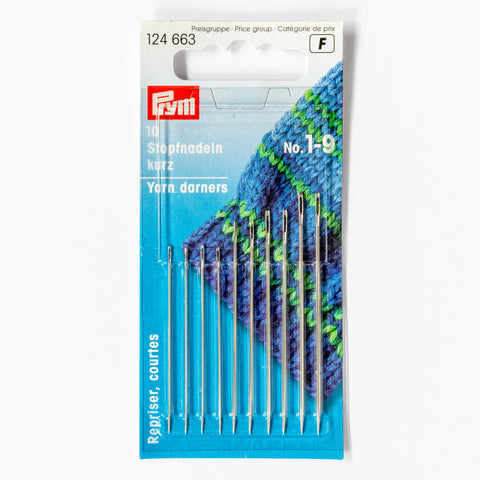 Prym yarn darners – size 1-9 darning needles – 10-pack