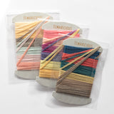 Temaricious thread card - naturally dyed cotton embroidery thread in 6 colours