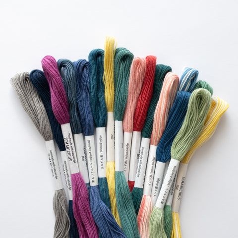 Temaricious naturally dyed cotton embroidery thread