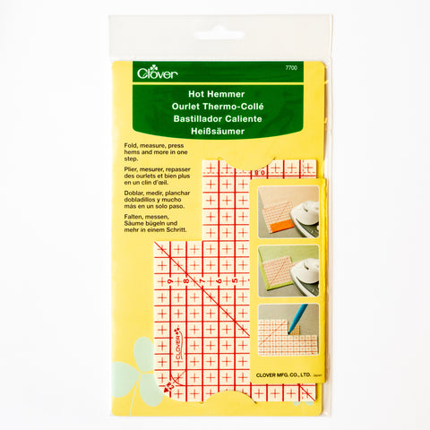 Clover hot hemmer – ironing aid for patches and hems