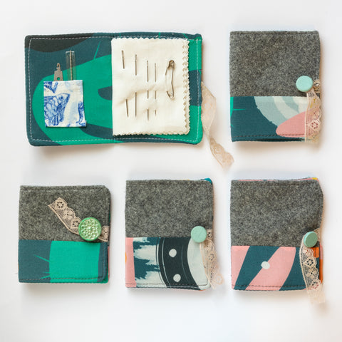 Limited-edition, upcycled needle books