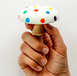 Woodrock Turning wooden darning mushroom - confetti party style