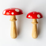 Woodrock Turning wooden darning mushroom - red
