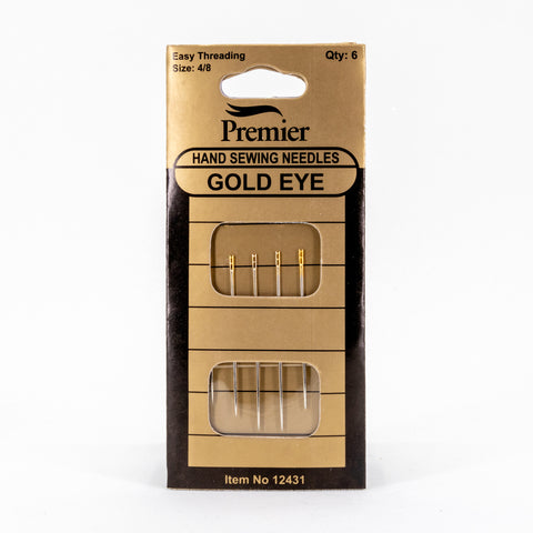 Self-threading needles for hand sewing – Premier gold eye