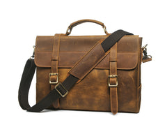 Carrog Light Crazy Horse Satchel|Satchel Crazy Horse Carrog Golau
