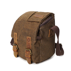 Compact Waxed Canvas Camera Bag|Bag Camera Cynfas Cwyr Bychan