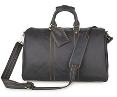 Coffee Deluxe Crazy Horse Travel Bag|Bag Teithio Crazy Horse Coffi