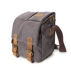 Waxed Canvas Compact Camera Bag|Bag Camera Cynfas Cwyr Bychan
