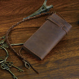 Large Brown Crazy Horse Wallet|Waled Crazy Horse Brown Mawr - Lledar