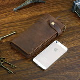 Large Brown Crazy Horse Wallet|Waled Crazy Horse Brown Mawr