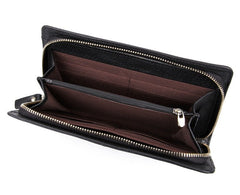Ultimate Black Leather Wallet|Waled Lledr Aml-ffordd Du