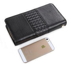 Black Classic Phone Wallet|Waled Ffôn Glasurol Ddu