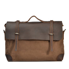 Mustang Leather and Canvas Bag|Bag Cynfas a Lledr Mustang