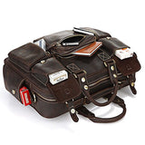 Espresso Leather Travel Pack|Bag Teithio Lledr Espresso - Lledar