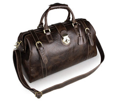 Deluxe Leather Travel Bag|Bag Teithio Lledr