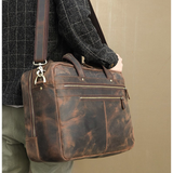 "Redford 17"" Crazy Horse Briefcase