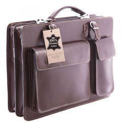Brown Coppola Briefcase Laptop Bag|Bag Dogfennau Coppola Brown
