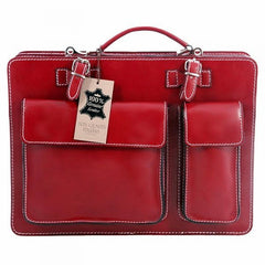 Red Valli Briefcase Laptop Bag|Bag Dogfennau Valli Coch