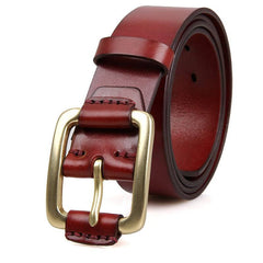 Oxblood Leather Belt|Belt Lledr Coch Frown