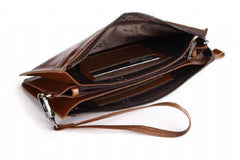 Brown Hautton Wrist Bag|Bag Garddwn Hautton Brown