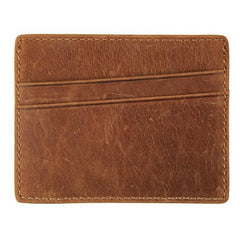 Crazy Horse Leather Card Holder|Waled Gardiau Crazy Horse