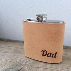 Hip Flask - 'Dad'|Fflasg Ledr 'Dad'