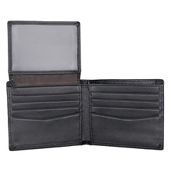 Black Leather Wallet|Waled Lledr Du