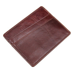 Oxblood Leather Card Holder|Waled Gardiau Coch Tywyll