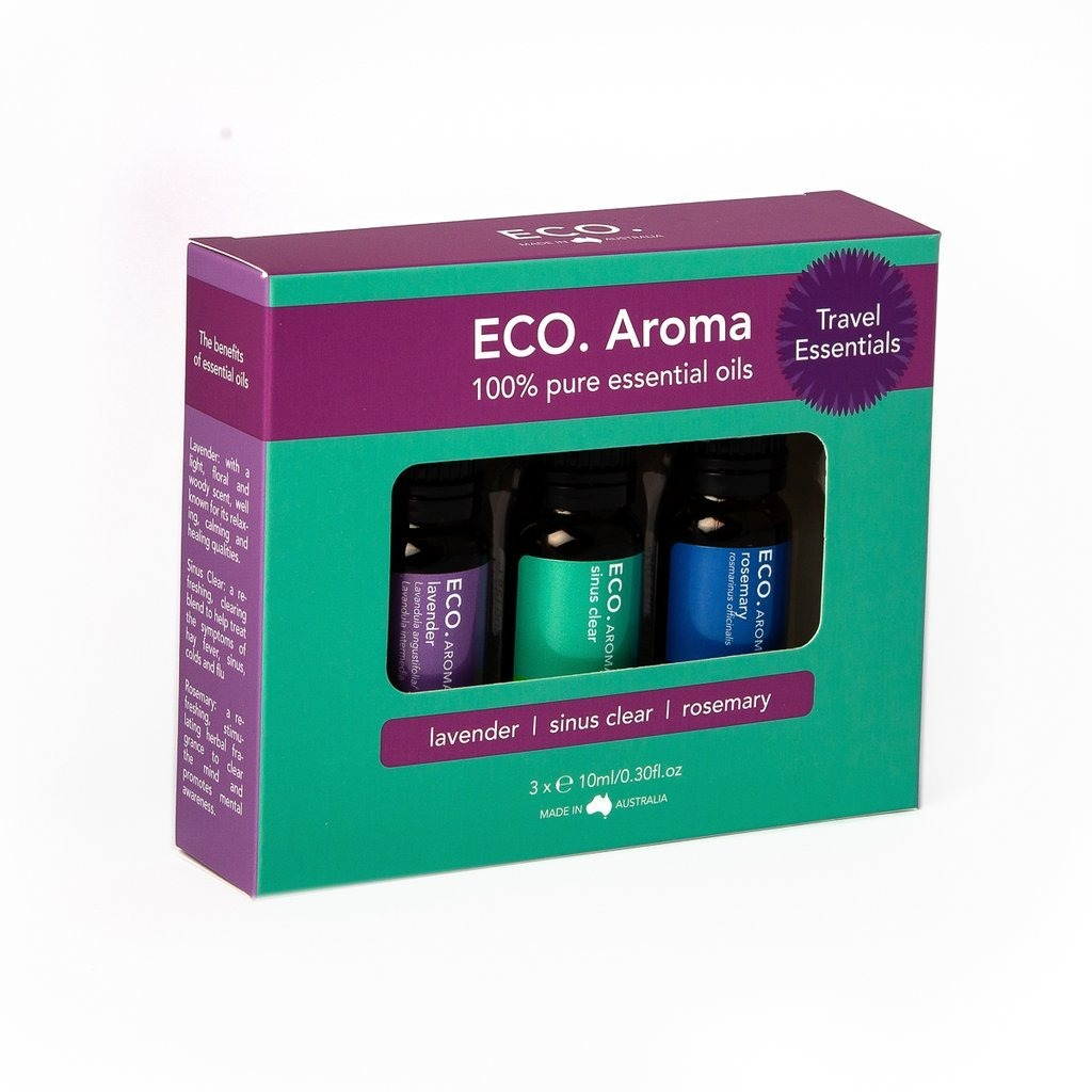 Eco Travel Essentials Pure Essential Oils 10ml (3 Pack) - Strive Organic