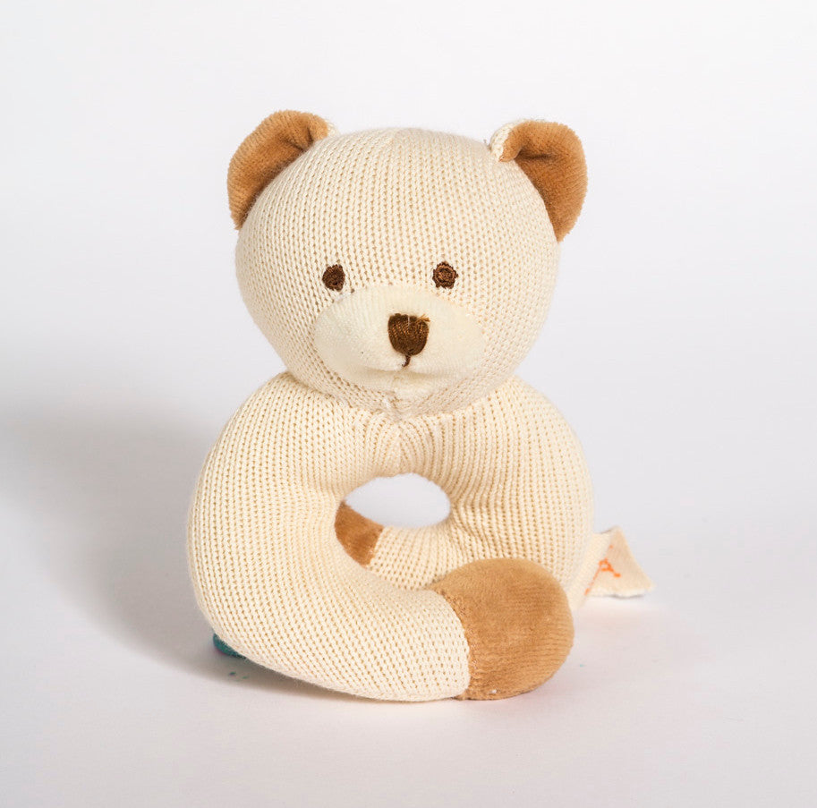 MiYim Knitted Rattle Teether Bear