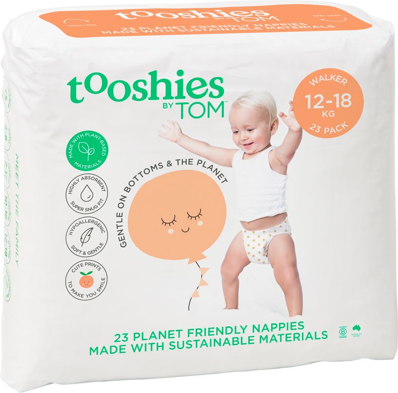 Tooshies by TOM Nappies Walker 12-18kg (23 Pack)