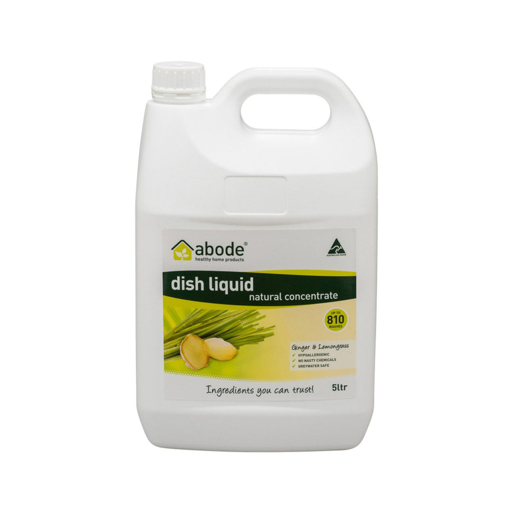 Abode Dish Liquid Concentrate Ginger & Lemongrass 5L - Strive Organic