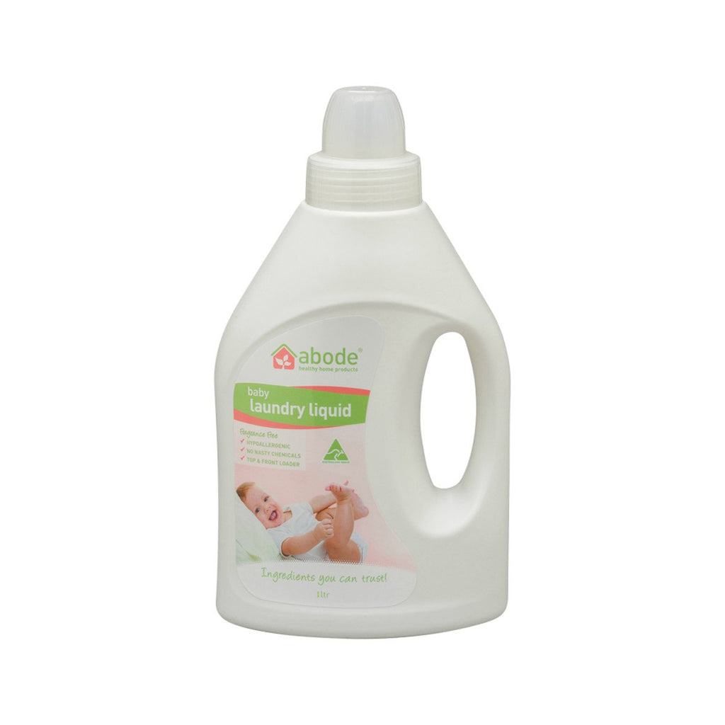 Abode Laundry Liquid (Front & Top Loader) Baby Fragrance Free 1L - Strive Organic