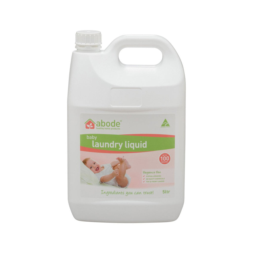 Abode Laundry Liquid (Front & Top Loader) Baby Fragrance Free 5L - Strive Organic