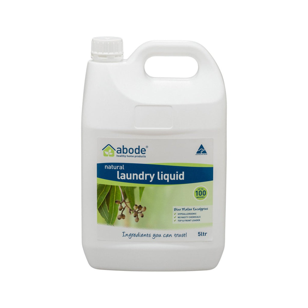 Abode Laundry Liquid (Front & Top Loader) Blue Mallee Eucalyptus 5L - Strive Organic