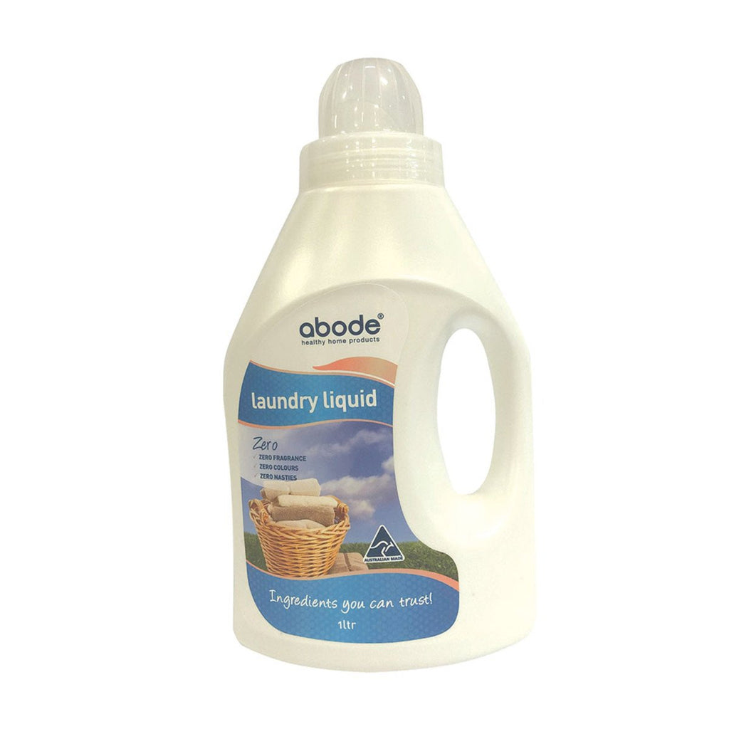 Abode Laundry Liquid (Front & Top Loader) Zero 1L - Strive Organic