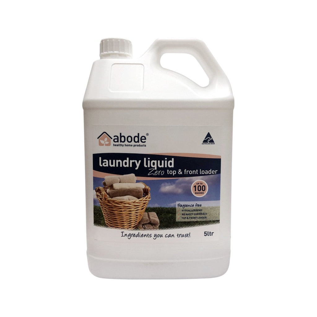 Abode Laundry Liquid (Front & Top Loader) Zero 5L - Strive Organic