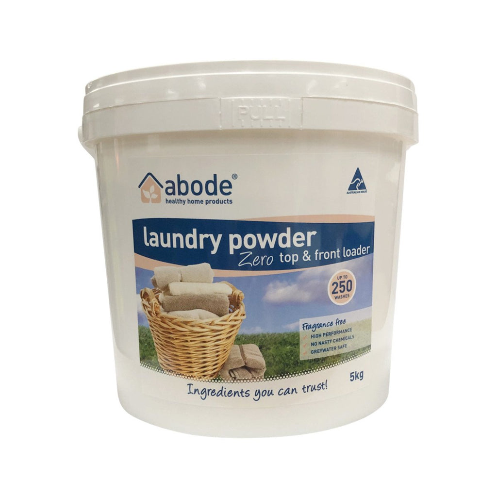 Abode Laundry Powder (Front & Top Loader) Zero 5kg - Strive Organic