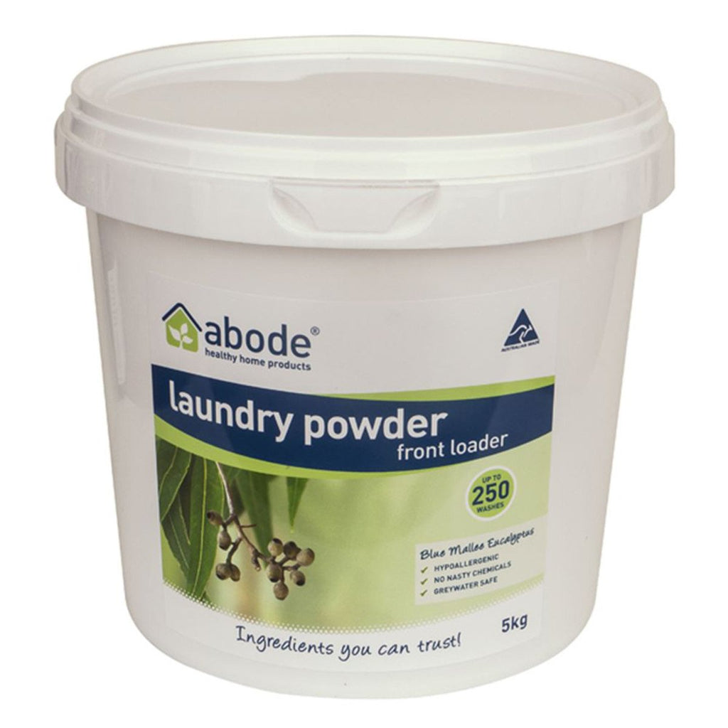 Abode Laundry Powder (Front & Top) Blue Mallee Eucalyptus 5kg - Strive Organic