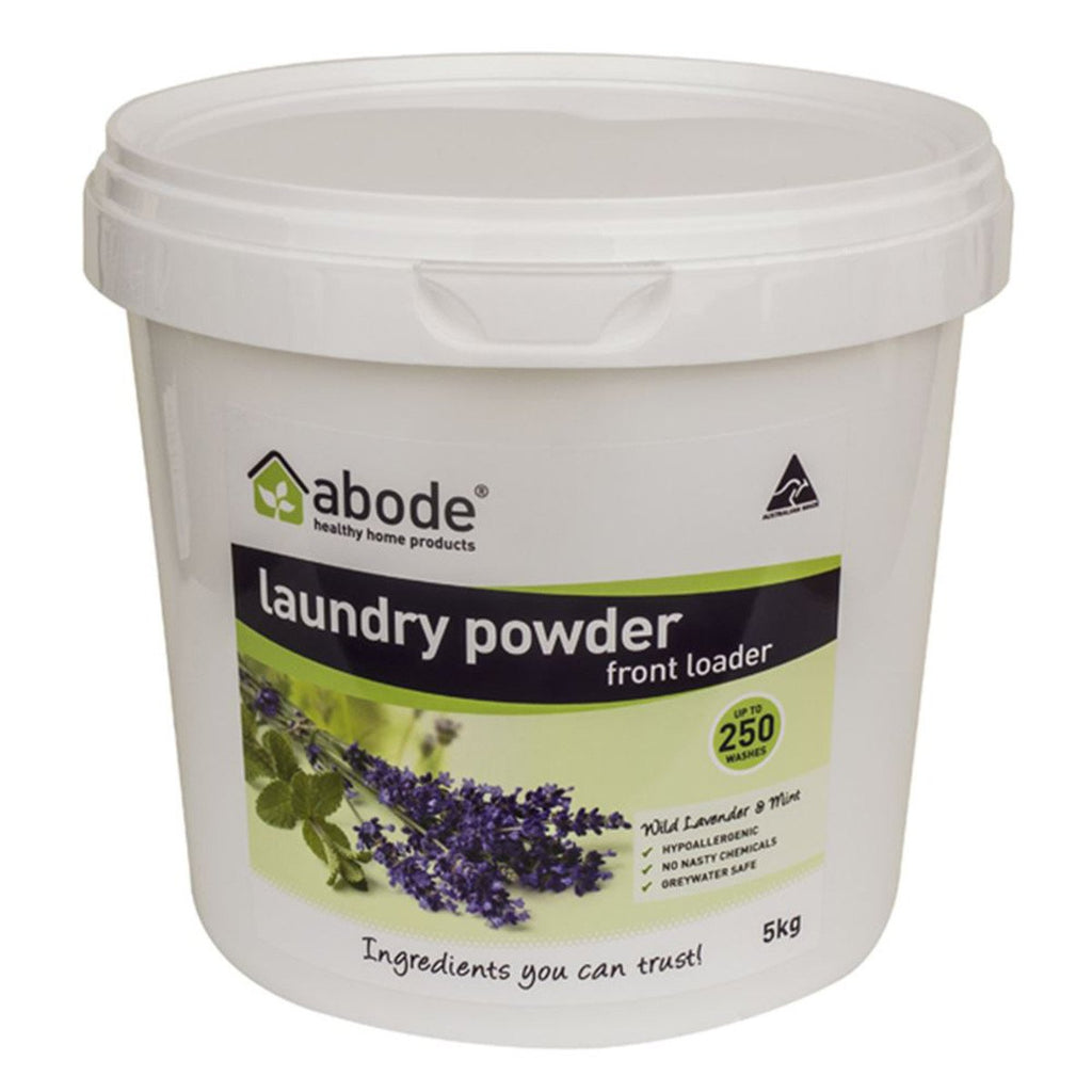 Abode Laundry Powder (Front & Top) Wild Lavender and Mint 5kg - Strive Organic