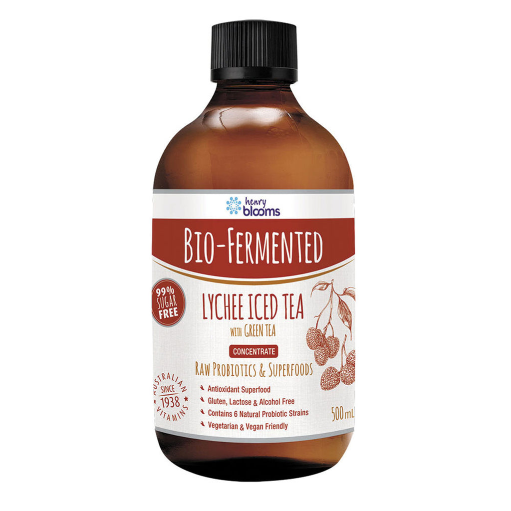 Henry Blooms Bio-Fermented Lychee Iced Tea with Green Tea Concentrate 500ml