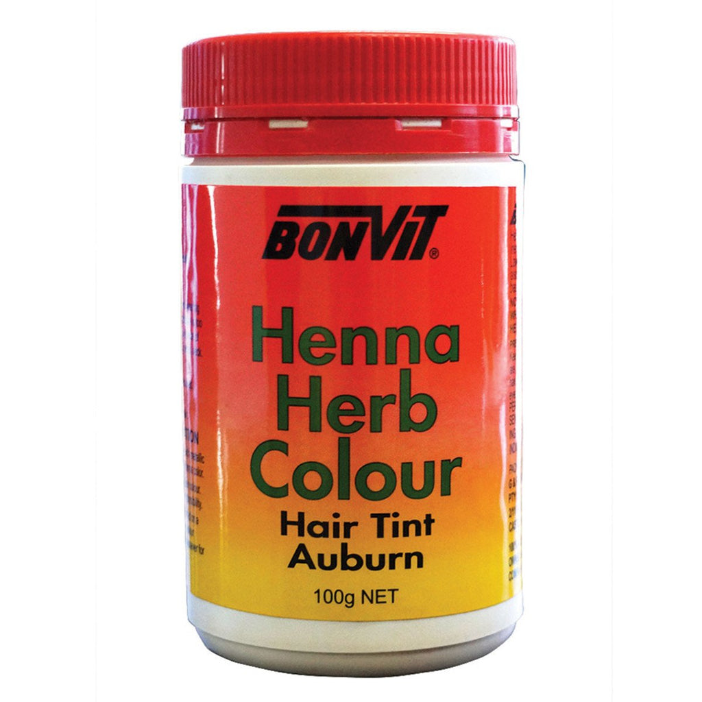 Bonvit Henna Herb Colour Hair Tint Auburn 100g - Strive Organic