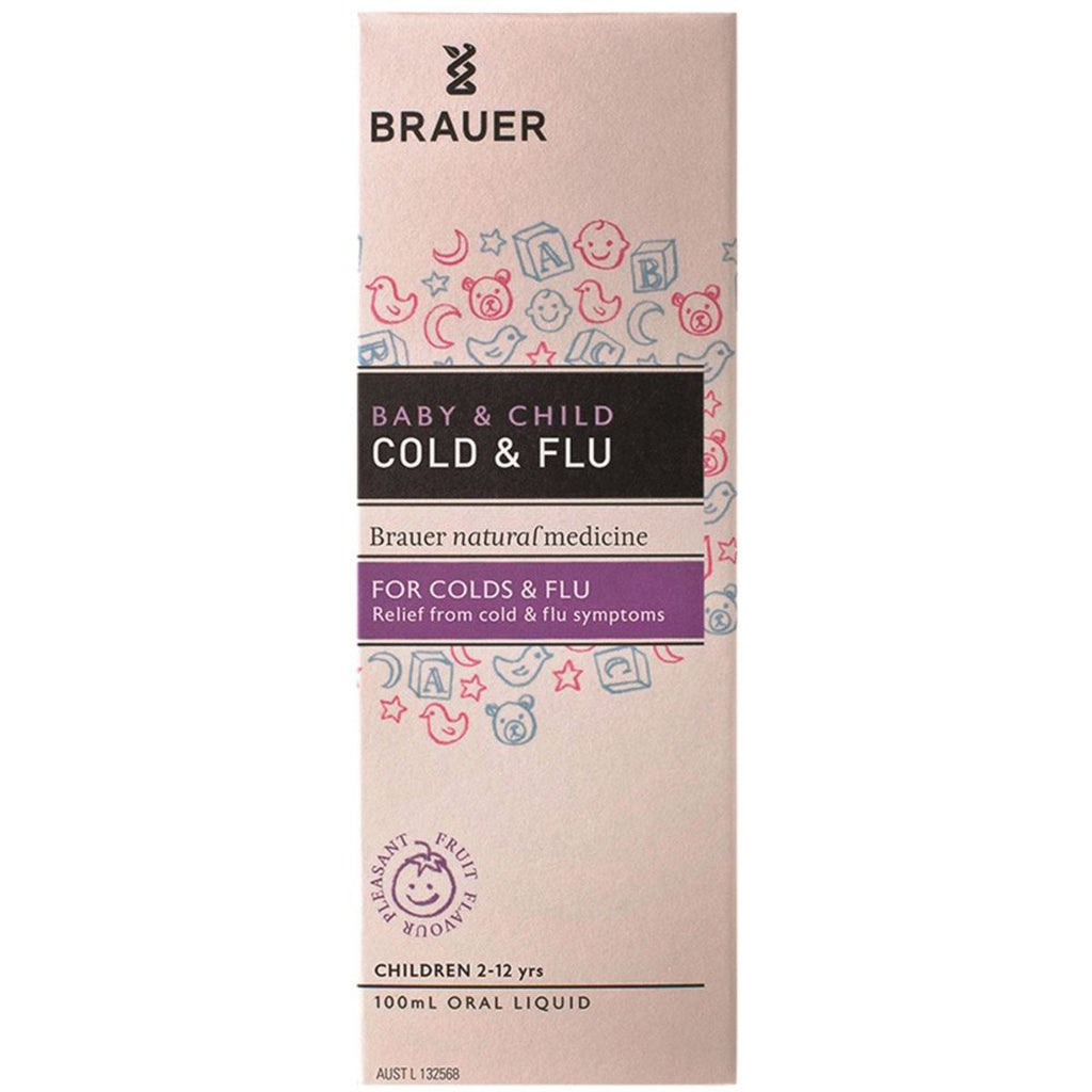 Brauer Baby and Child Cold and Flu Oral Liquid 100ml - Strive Organic