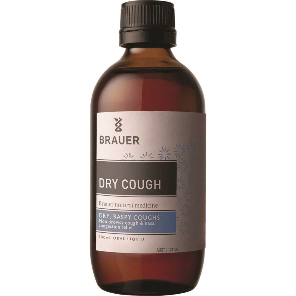 Brauer Dry Cough Oral Liquid 200ml - Strive Organic