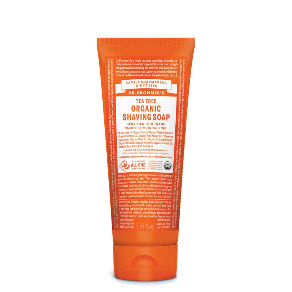 Dr Bronner's Organic Shaving Soap Tea Tree 207ml - Strive Organic