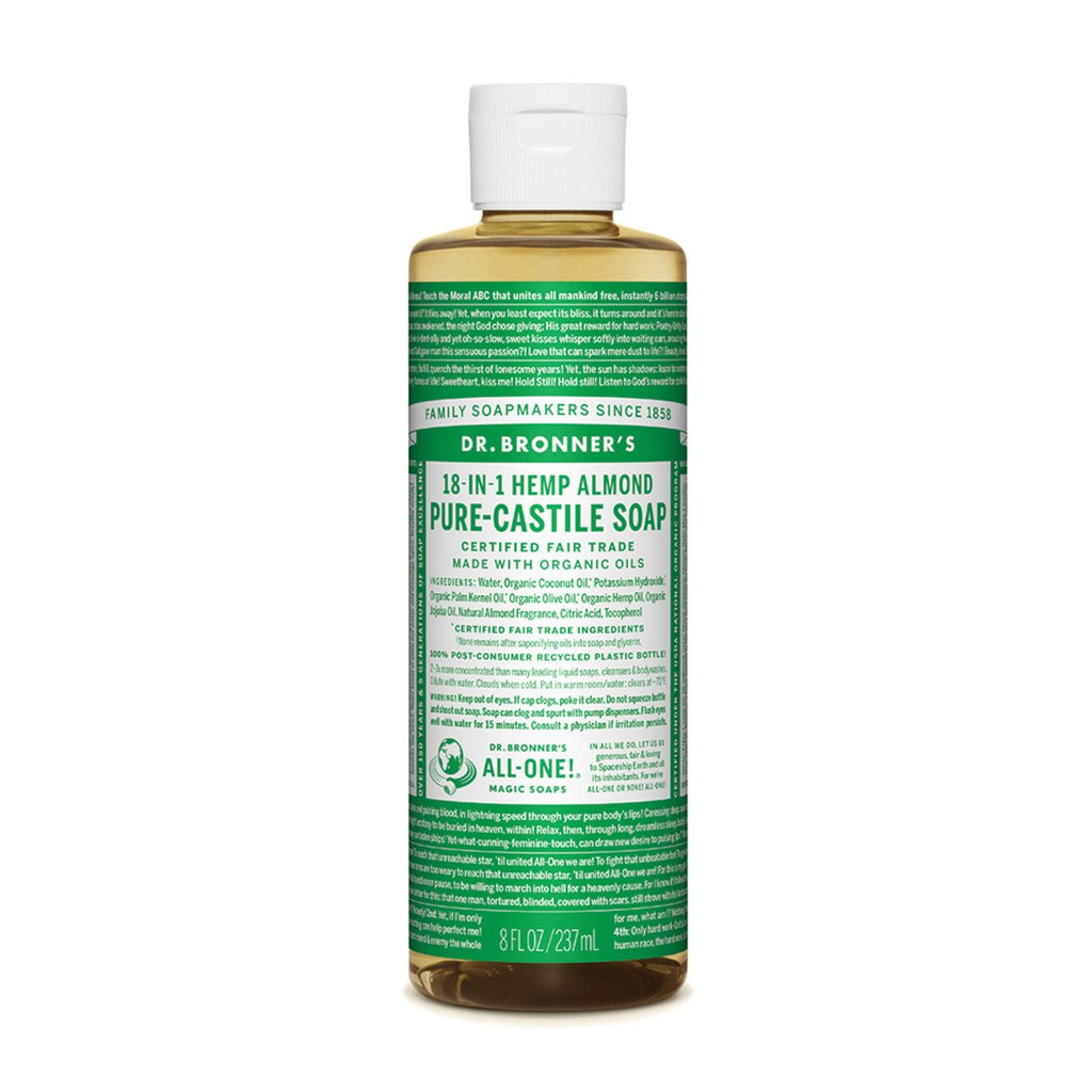 Dr Bronner's Pure-Castile Soap Liquid Almond 237ml - Strive Organic