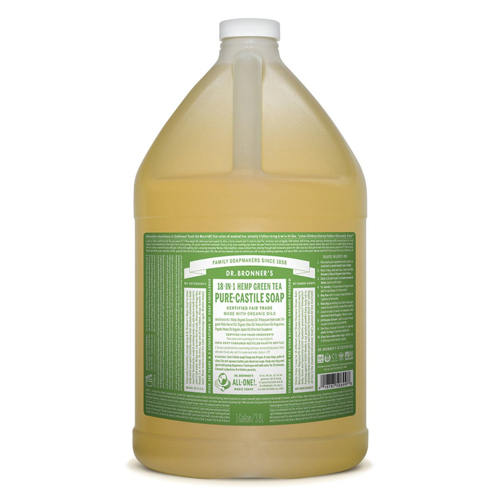 Dr Bronner's Pure-Castile Soap Liquid Green Tea 3.78L - Strive Organic