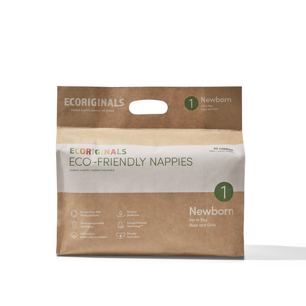 Ecoriginals Eco-Friendly Nappies Newborn Upto 5kg (30 Pack)