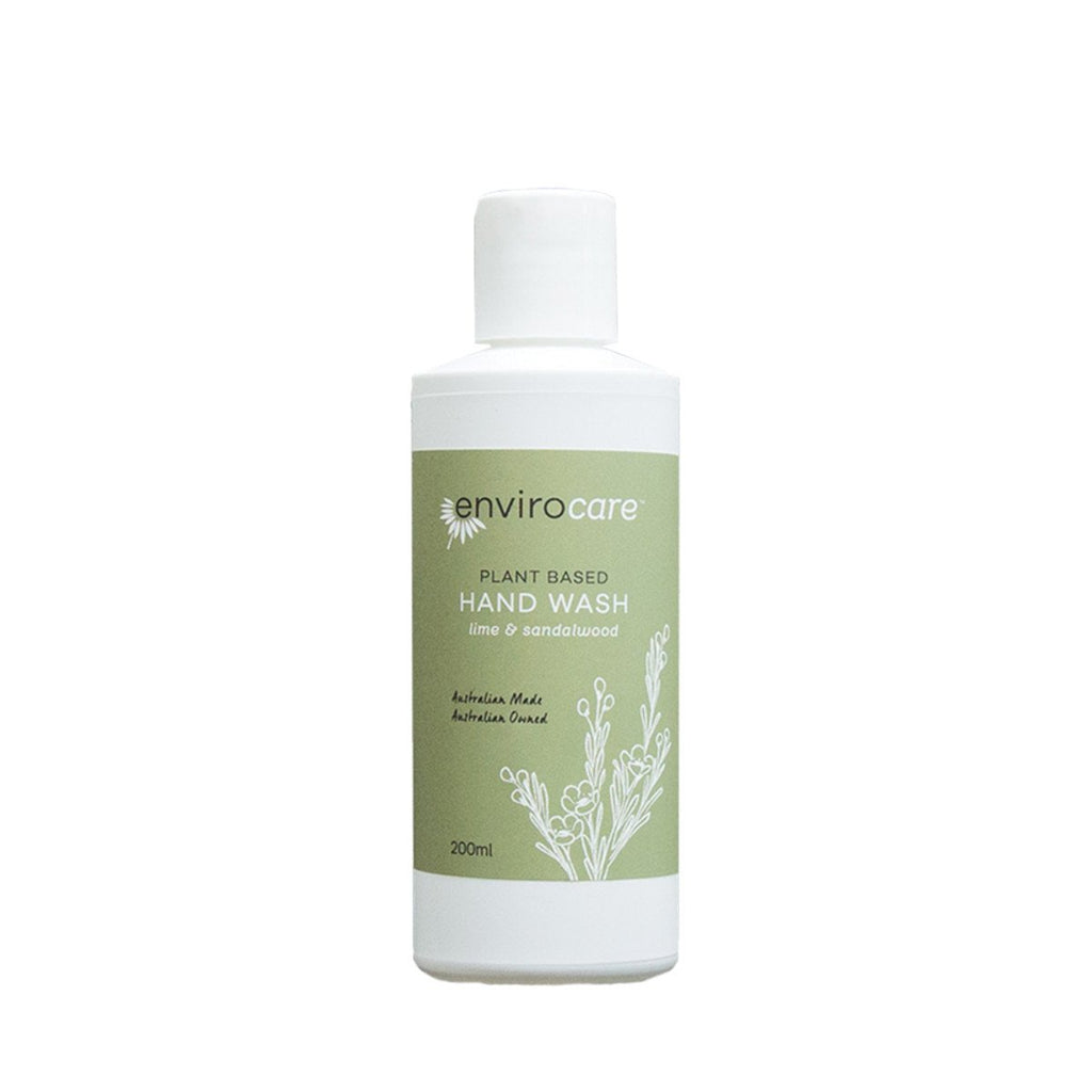 EnviroCare Plant-Based Hand Wash (Lime & Sandalwood) 200ml - Strive Organic