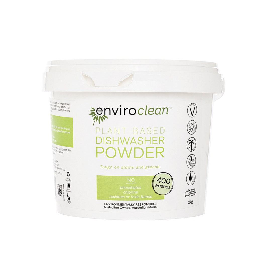 EnviroClean Plant-Based Dishwasher Powder 2kg - Strive Organic